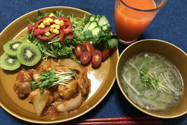 晩ごはん/鶏もも肉のチリソース